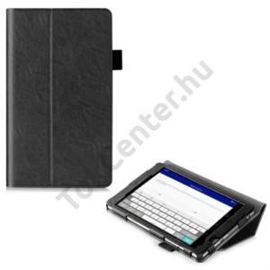 Huawei Mediapad M2 8  Tok álló, bőr (FLIP, mágneses, oldalra nyíló, asztali tartó funkció, érintőceruza tartó) FEKETE