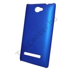 HTC 8S Windows Phone (A620e) Műanyag telefonvédő gumírozott KÉK