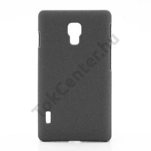 LG Optimus L7 II. (P710) Műanyag telefonvédő (gumírozott, érdes felületű) SZÜRKE