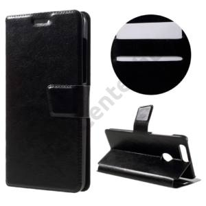 Huawei Honor 8 Tok álló, bőr (FLIP, oldalra nyíló, asztali tartó funkció) FEKETE