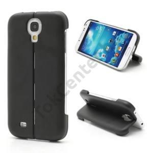 Samsung Galaxy S IV. (GT-I9500) Műanyag telefonvédő (asztali tartó funkció) FEKETE