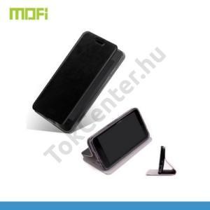 Huawei Ascend G630 MOFI RUI tok álló, bőr (FLIP, oldalra nyíló, asztali tartó funkció, szilikon tartó) FEKETE