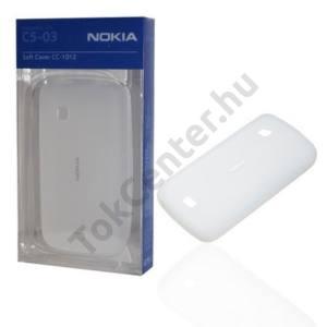 Nokia C5-03 Telefonvédő gumi / szilikon FEHÉR