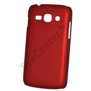 Samsung Galaxy Ace 3 LTE (GT-S7275) Műanyag telefonvédő gumírozott PIROS