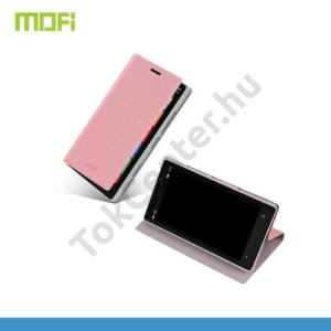 Nokia Lumia 929 MOFI RUI tok álló, bőr (FLIP, oldalra nyíló, asztali tartó funkció) RÓZSASZÍN