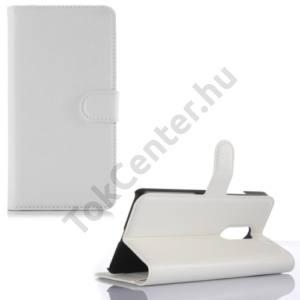 Lenovo Vibe X3 Tok álló, bőr (FLIP, oldalra nyíló, asztali tartó funkció) FEHÉR