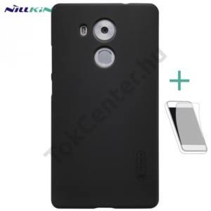 Huawei Mate 8 NILLKIN SUPER FROSTED műanyag telefonvédő (gumírozott, érdes felület, képernyővédő fólia, tisztítókendő) FEKETE