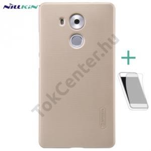Huawei Mate 8 NILLKIN SUPER FROSTED műanyag telefonvédő (gumírozott, érdes felület, képernyővédő fólia, tisztítókendő) ARANY