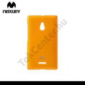 Nokia XL MERCURY Goospery telefonvédő gumi / szilikon (csillámporos) NARANCS