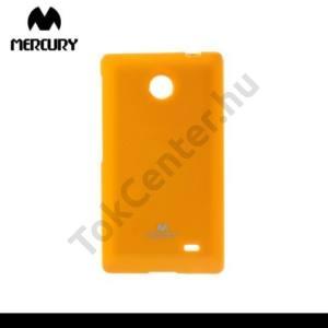Nokia X MERCURY Goospery telefonvédő gumi / szilikon (csillámporos) NARANCS