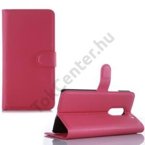 Lenovo Vibe X3 Tok álló, bőr (FLIP, oldalra nyíló, asztali tartó funkció) MAGENTA