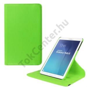 Samsung Galaxy Tab E 9.6 Tok álló, bőr (FLIP, asztali tartó funkció, 360°-ban forgatható) ZÖLD