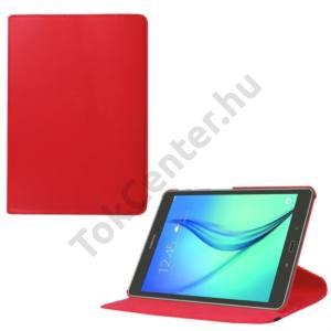 Samsung Galaxy Tab S2 9.7 (SM-T810) WIFI Tok álló, bőr (FLIP, asztali tartó funkció, 360°-ban forgatható) PIROS