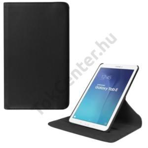 Samsung Galaxy Tab E 9.6 Tok álló, bőr (FLIP, asztali tartó funkció, 360°-ban forgatható) FEKETE