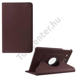 Samsung Galaxy Tab E 9.6 Tok álló, bőr (FLIP, asztali tartó funkció, 360°-ban forgatható) BARNA