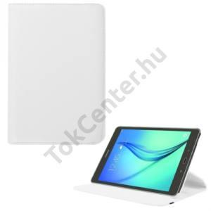 Samsung Galaxy Tab S2 8.0 (SM-T710) WIFI Tok álló, bőr (FLIP, asztali tartó funkció, 360°-ban forgatható) FEHÉR
