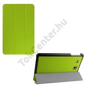 Samsung Galaxy Tab E 9.6 Tok álló, bőr hatású (FLIP, TRIFOLD asztali tartó funkció) VILÁGOSZÖLD