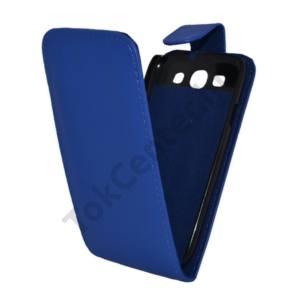 Samsung Galaxy S III. (GT-I9300) Tok álló, bőr (FLIP, mágneses) KÉK