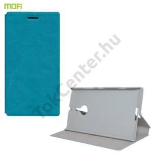 Nokia Lumia 1520 MOFI RUI tok álló, bőr (FLIP, oldalra nyíló, asztali tartó funkció) VILÁGOSKÉK