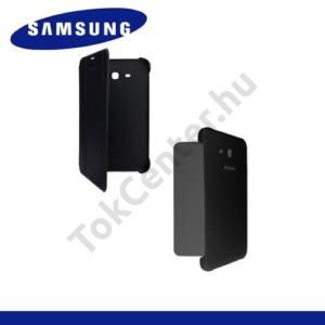 Műanyag telefonvédő (FLIP, oldalra nyíló, asztali tartó funkció) FEKETE