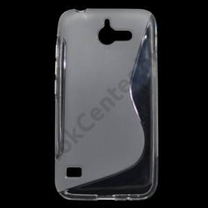 Huawei Ascend Y550 Telefonvédő gumi / szilikon (S-line) ÁTLÁTSZÓ