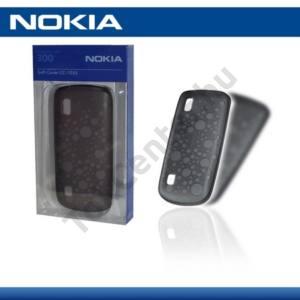 Nokia 300 Asha Telefonvédő gumi / szilikon FEKETE