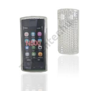Nokia 500  Telefonvédő gumi / szilikon (gyémántmintás) ÁTLÁTSZÓ