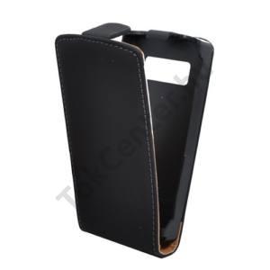 Nokia 500  Tok álló, bőr (FLIP, mágneses) FEKETE