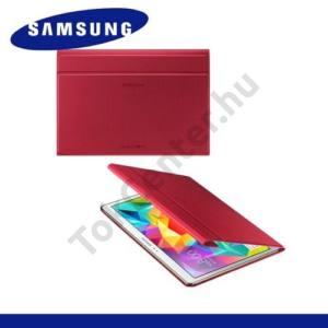 Samsung Galaxy Tab S 10.5 LTE (SM-T805) Műanyag telefonvédő (FLIP, oldalra nyíló, asztali tartó funkció) PIROS