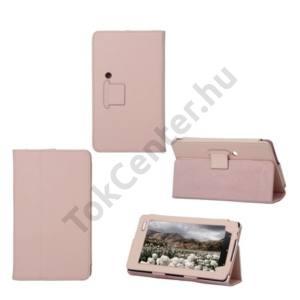 Huawei Ideos S7 Slim Tok álló, bőr (FLIP, REJTETT mágneses, asztali tartó funkció) RÓZSASZÍN