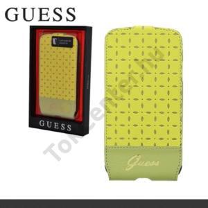 Samsung Galaxy S IV. (GT-I9500) GUESS Gianina tok álló, bőr (FLIP, mágneses, ultra slim design) SÁRGA