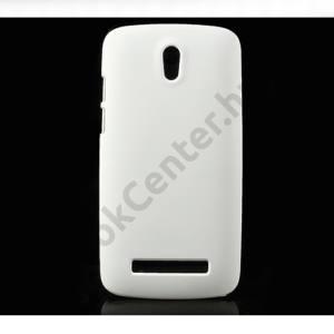HTC Desire 500 Műanyag telefonvédő gumírozott FEHÉR