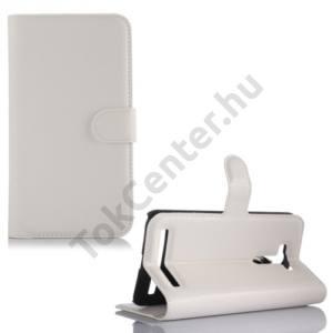 Asus Zenfone 2 Laser (ZE550KL) Tok álló, bőr (FLIP, oldalra nyíló, asztali tartó funkció) FEHÉR