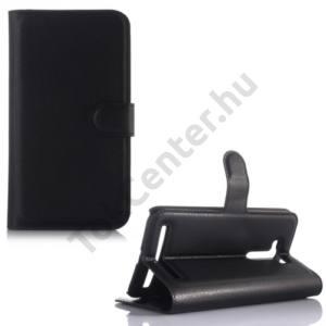 Asus Zenfone 2 Laser (ZE550KL) Tok álló, bőr (FLIP, oldalra nyíló, asztali tartó funkció) FEKETE