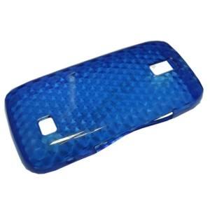 Nokia 308 Asha Telefonvédő gumi / szilikon (gyémántmintás) KÉK