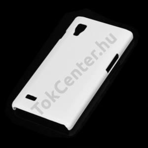 LG Optimus L9 (P760) Műanyag telefonvédő gumírozott FEHÉR