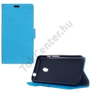 Alcatel Pixi 4 (5) (OT-5010) Tok álló, bőr (FLIP, oldalra nyíló, asztali tartó funkció) VILÁGOSKÉK