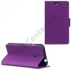 Alcatel Pixi 4 (5) (OT-5010) Tok álló, bőr (FLIP, oldalra nyíló, asztali tartó funkció) LILA