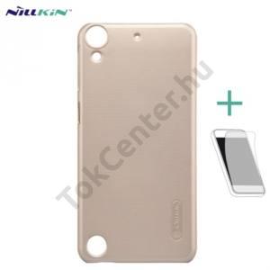 NILLKIN SUPER FROSTED műanyag telefonvédő (gumírozott, érdes felület, képernyővédő fólia) ARANY