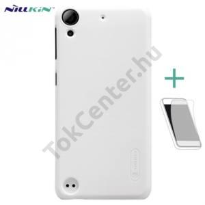 NILLKIN SUPER FROSTED műanyag telefonvédő (gumírozott, érdes felület, képernyővédő fólia) FEHÉR