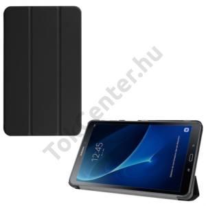 Samsung Galaxy Tab A 10.1 LTE / WIFI (2016) Tok álló, bőr (FLIP, oldalra nyíló, TRIFOLD asztali tartó funkció) FEKETE