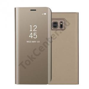 SAMSUNG Galaxy S7. Edge (SM-G935) Tok álló, bőr (aktív flip, oldalra nyíló, asztali tartó funkció, Smart View Cover) ARANY