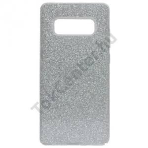 HUAWEI P10 Lite Telefonvédő gumi / szilikon (műanyag belső, csillogó hátlap) EZÜST