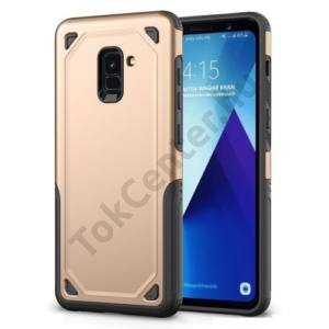 SAMSUNG Galaxy Note 8 (SM-N950F) Defender műanyag telefonvédő (közepesen ütésálló, gumi / szilikon belső) ARANY/SZÜRKE