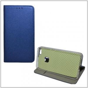 SONY Xperia XA1 (G3112) Tok álló, bőr (FLIP, oldalra nyíló, asztali tartó funkció, rombuszminta) SÖTÉTKÉK
