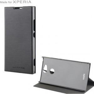 SONY Xperia XA2 (H4113) Tok álló, bőr (aktív flip, oldalra nyíló, bankkártya tartó, asztali tartó funkció, Smart Cover) FEKETE