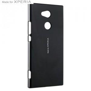 SONY Xperia XA2 (H4113) Műanyag telefonvédő (fényes) FEKETE