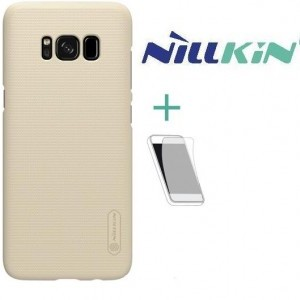 APPLE IPhone X 5.8 NILLKIN SUPER FROSTED műanyag telefonvédő (gumírozott, érdes felület, képernyővédő fólia, logo kivágás) ARANY
