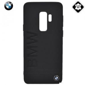 SAMSUNG Galaxy S9 (SM-G960) BMW SIGNATURE műanyag telefonvédő (valódi bőrbevonat) FEKETE