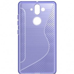 NOKIA 9 Telefonvédő gumi / szilikon (S-line, karbonminta) LILA